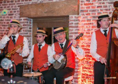 Jazz band trouw Petra & Sil